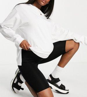 Базовые леггинсы-шорты ASOS DESIGN Maternity-Черный цвет Maternity