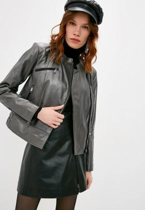 Куртка кожаная Max&Co NAVARRA. Цвет: серый
