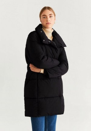 Куртка утепленная Mango - NECTAR. Цвет: черный