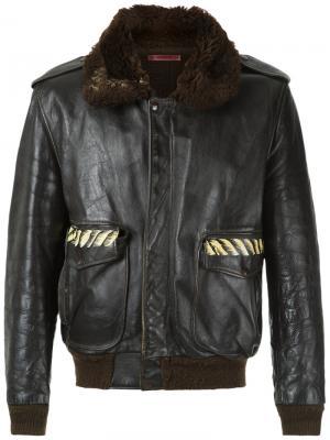 Куртка с выполненным вручную рисунком À La Garçonne. Цвет: чёрный