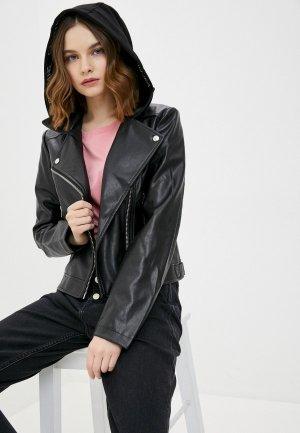 Куртка кожаная Calvin Klein Jeans. Цвет: черный