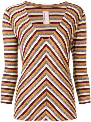 Metallic striped sweater Antonio Marras. Цвет: красный