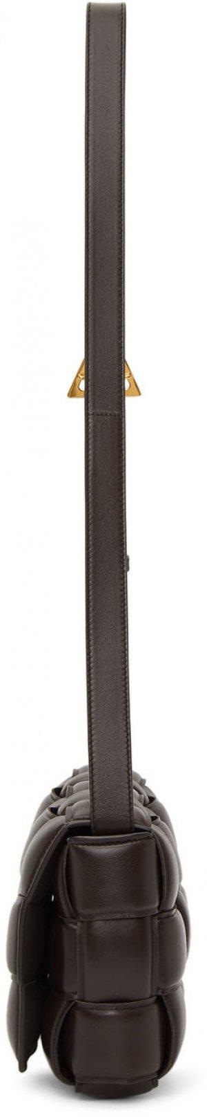 Brown Padded Cassette Bag Bottega Veneta. Цвет: 2132 fondente