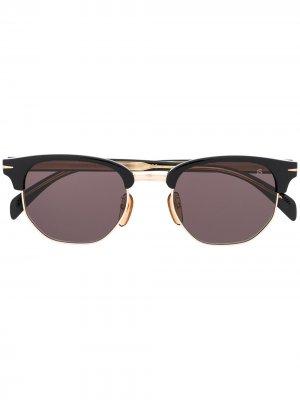 Солнцезащитные очки в полуободковой оправе Eyewear by David Beckham. Цвет: черный