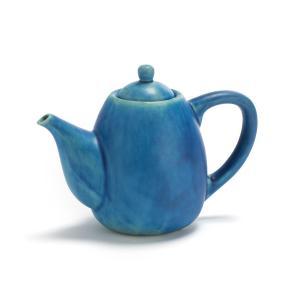 Чайник из керамики, покрытой глазурью, Akemi AM.PM. Цвет: синий