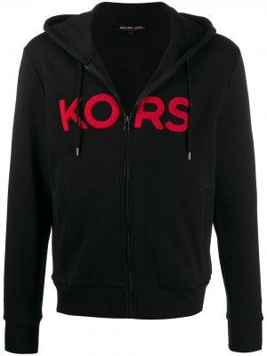 Худи на молнии с нашивкой-логотипом Michael Kors. Цвет: черный
