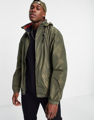Зеленая куртка-дождевик на подкладке с потайным капюшоном Amherst-Зеленый цвет Polo Ralph Lauren