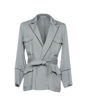 Пиджак UMIT BENAN. Цвет: светло-серый