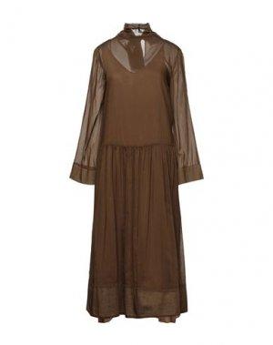 Длинное платье ALYSI. Цвет: коричневый