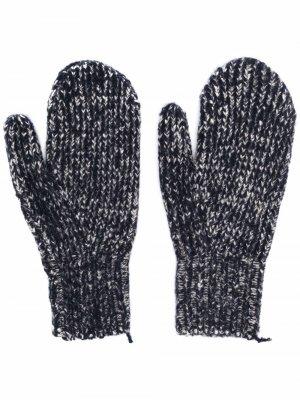 Шерстяные перчатки Acne Studios. Цвет: синий