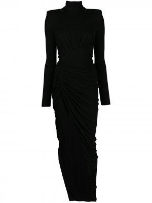 Присборенное платье Alexandre Vauthier. Цвет: черный