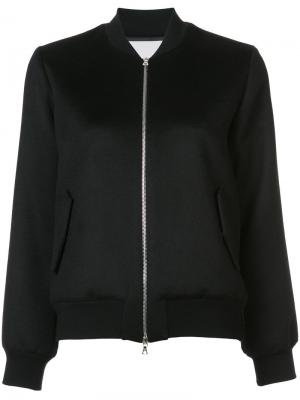 Куртка-бомбер на молнии Adam Lippes. Цвет: чёрный