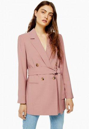 Пиджак Topshop. Цвет: розовый
