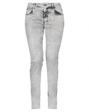 Джинсовые брюки UP ★ JEANS. Цвет: серый