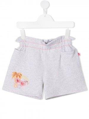 Спортивные шорты с оборками Billieblush. Цвет: серый