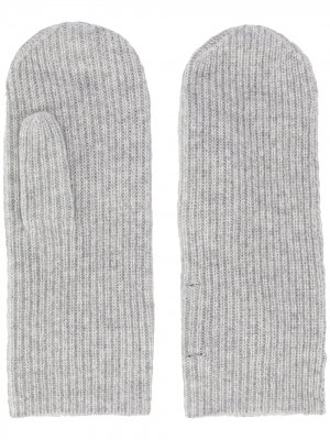 Варежки в рубчик Isabel Marant. Цвет: серый