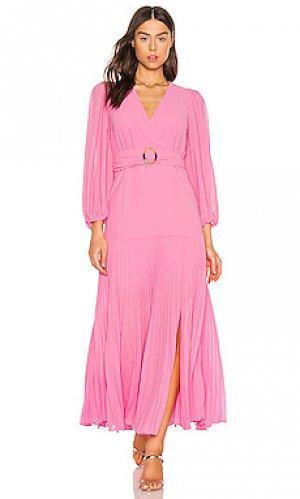 Макси платье daytona Bardot. Цвет: фуксия