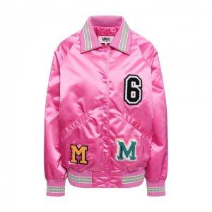 Бомбер Mm6. Цвет: розовый