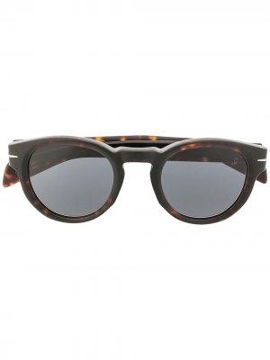 Солнцезащитные очки 7041/S в круглой оправе Eyewear by David Beckham. Цвет: синий