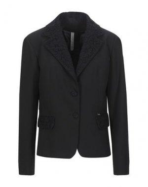 Пиджак MANUELA RIVA. Цвет: черный