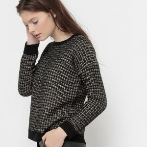 Пуловер с круглым вырезом и волокнами металлическим блеском MISTIC KARL MARC JOHN. Цвет: черный
