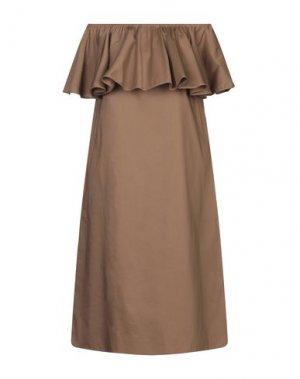 Платье до колена LA FABRIQUE. Цвет: коричневый
