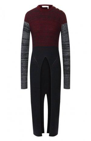 Удлиненный пуловер Chloé. Цвет: темно-синий
