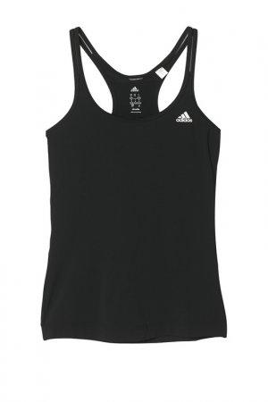 Майка Adidas BASIC STRAPPY. Цвет: черный