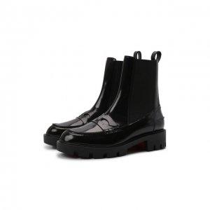 Кожаные ботинки Montezu Lug Christian Louboutin. Цвет: чёрный