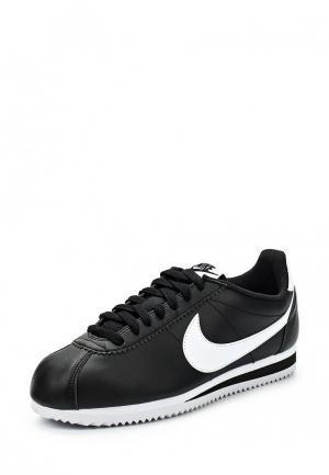 Кроссовки Nike CLASSIC CORTEZ LEATHER WOMENS SHOE. Цвет: черный