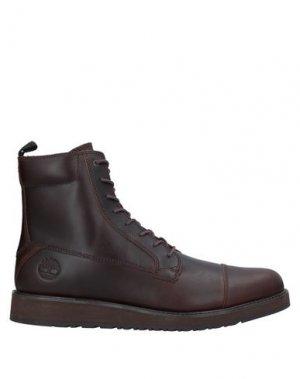 Полусапоги и высокие ботинки TIMBERLAND. Цвет: какао