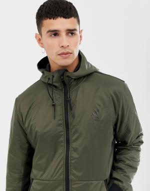 Водонепроницаемое пальто на молнии -Зеленый Fat Moose