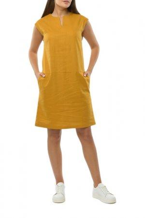 Платье Remix. Цвет: горчичный