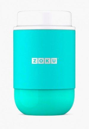 Контейнер для хранения продуктов Zoku Neat Stack, 475 мл.. Цвет: бирюзовый