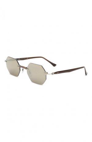 Солнцезащитные очки Ray-Ban. Цвет: коричневый