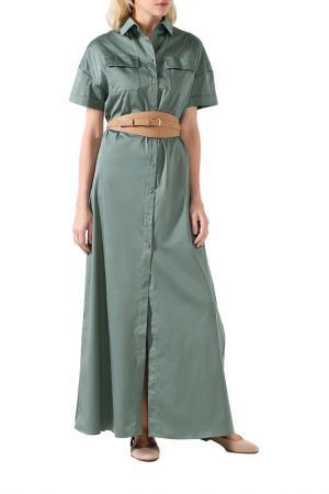Платье BELUCCI. Цвет: хаки