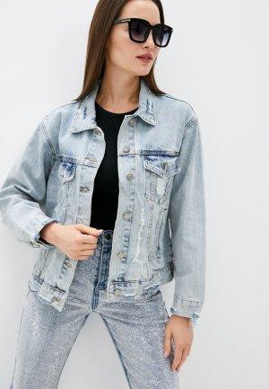 Куртка джинсовая Lusio. Цвет: голубой
