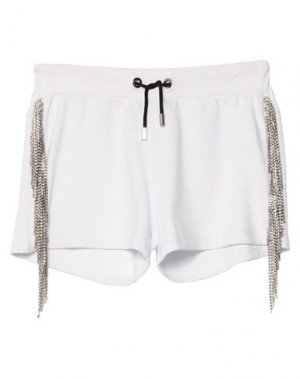 Повседневные шорты PHILIPP PLEIN. Цвет: белый