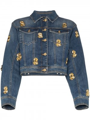 Декорированная джинсовая куртка Moschino