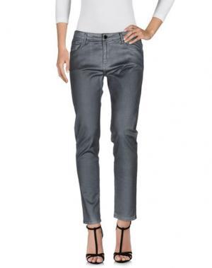 Джинсовые брюки 75 FAUBOURG. Цвет: стальной серый