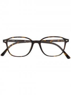 Очки Leonard в квадратной оправе Ray-Ban. Цвет: коричневый