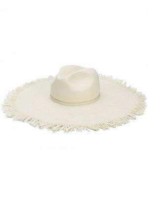 Шляпа с широкими полями Patrizia Pepe. Цвет: нейтральные цвета