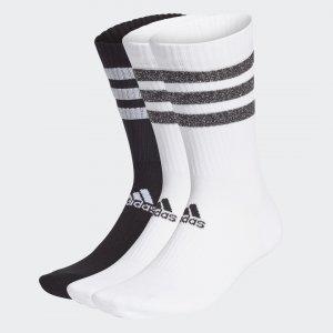 Три пары носков Glam 3-Stripes Performance adidas. Цвет: черный