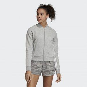 Куртка-бомбер W MH 3S DK JKT Athletics adidas. Цвет: белый