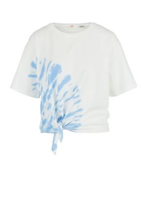 Футболка Levis Levi's. Цвет: белый, синий
