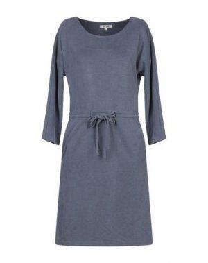 Платье до колена DRY LAKE.. Цвет: грифельно-синий