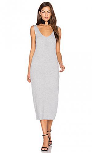 Макси платье prime time Finders Keepers. Цвет: серый