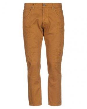 Джинсовые брюки 2 MEN. Цвет: охра