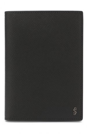 Кожаная обложка для паспорта Serapian. Цвет: чёрный
