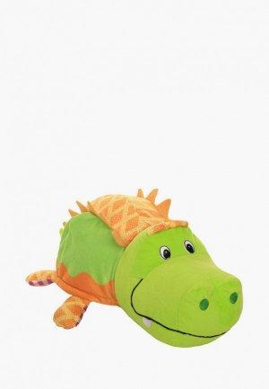 Игрушка мягкая Вывернушка Ням-Ням 2в1, 40 см. Крокодильчик-Жираф. Цвет: разноцветный